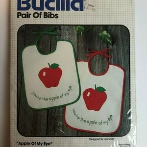 Vintage Bucilla Apple Cross Stitch Needle Work Kit